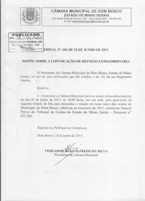 Edital nº 001/2013